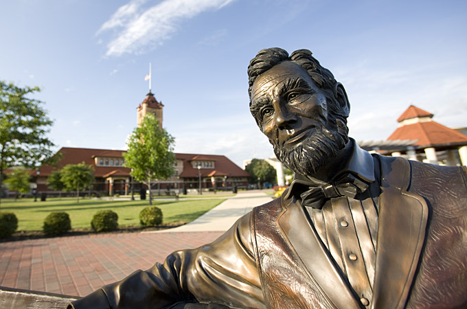 Abraham Lincoln, Union Square Park, Springfield, Illinois - Credit: Illinois Office of Tourism