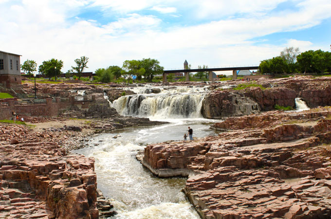Falls Park in Sioux Falls, South Dakota - Credit: Sioux Falls CVB