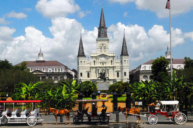 Jackson Square in New Orleans, Louisiana - Credit: New Orleans CVB
