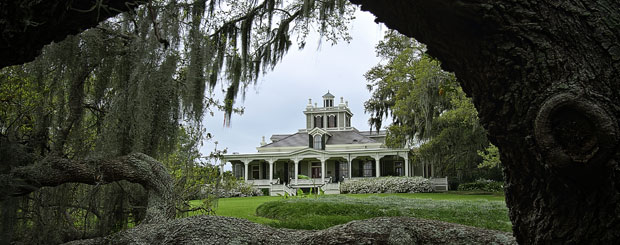 Joseph Jefferson Home in den Rip Van Winkle Gardens, Louisiana - Credit: Louisiana Department of Culture, Recreation and Tourism