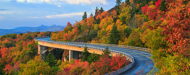 Linn Cove Viaduct, Blue Ridge Parkway, North Carolina - Credit: VisitNC.com