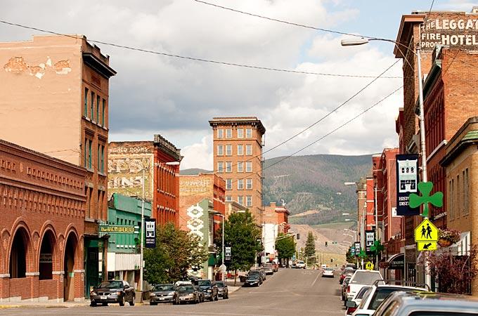 Zeit in Meilen Stadt Montana