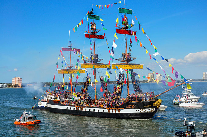 Gasparilla Invasion, Tampa, Florida - Credit: Visit Tampa Bay, William Carson Photography