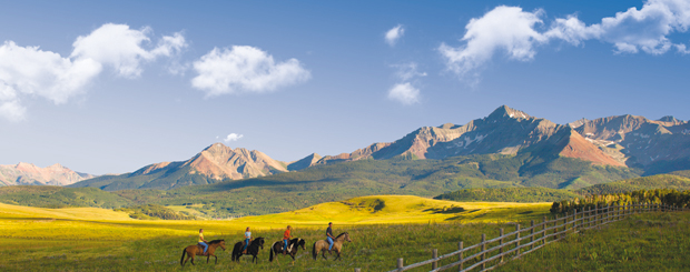 Horseback Riding in den Rock Mountains - Quelle: Colorado Office of Tourism