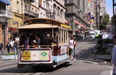 CA/San Francisco Bilder/Dirk/Cable Car auf Strasse
