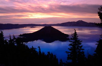 OR/Crater Lake National Park/Wizard Island Sonnenaufgang