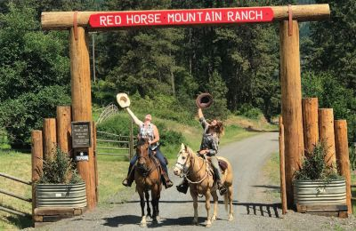 ID/Red Horse Mountain Ranch/Einfahrt