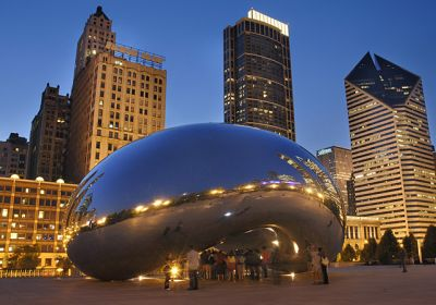 IL/Chicago/Allg Bilder/Cloud Gate by Night