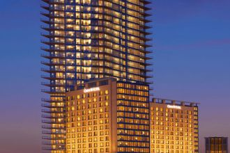 Exterior Night, Omni Fort Worth Hotel, Fort Worth - Credit: