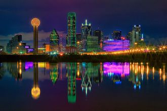 TX/Dallas/Allgemein/Colored Skyline