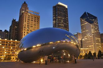 Cloud Gate by Night, Chicago - Credit: City of Chicago