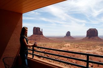 UT/Monument Valley/The View Hotel/Balkon