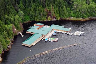 BC/Campbell River/Knight Inlet Lodge/Aerial