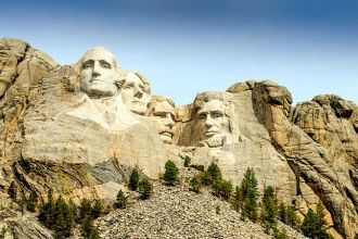 SD/Black Hills/Mount Rushmore/Froschperspektive