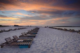 AL/Orange Beach/Sonnenuntergang